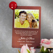 Personalised Chocolate Wedding Announcement Photo Fridge Magnets