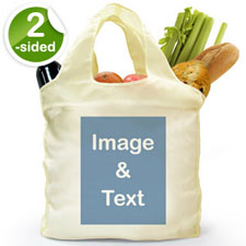 customise 2 Sides Folded Shopper Bag, Portrait Image