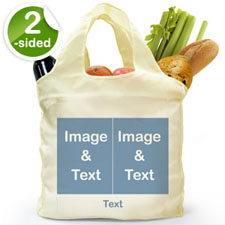 Personalised Both Sides 2 Collage Shopper Bag, Classic