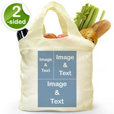 customise 2 Sides 3 Collage Shopper Bag, Classic