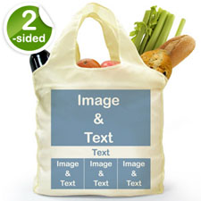 customise 2 Sides 4 Collage Folded Shopper Bag, Modern