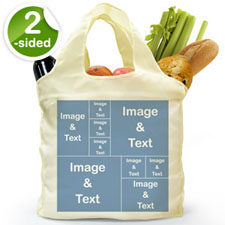customise 2 Sides 9 Collage Folded Shopper Bag, Modern