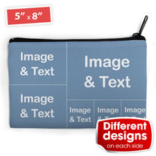 Instagram Six Collage Medium (2 Side Different Images) Makeup Bag 5