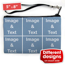 Personalised Instagram Six Collage (2 Side Different Image) Wristlet Bag (Medium Inch)