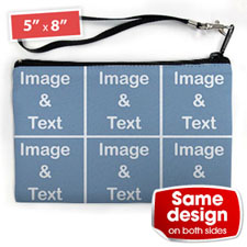 Personalised Instagram Six Collage (2 Side Same Image) Wristlet Bag (Medium Inch)
