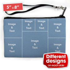 Personalised Instagram Seven Collage (2 Side Different Image) Wristlet Bag (Medium Inch)