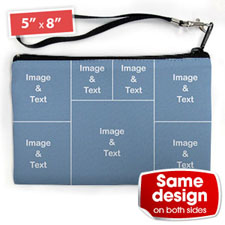 Personalised Instagram Seven Collage (2 Side Same Image) Wristlet Bag (Medium Inch)