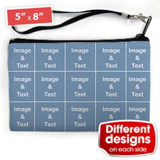 Personalised Instagram 15 Collage (2 Side Different Image) Wristlet Bag (Medium Inch)