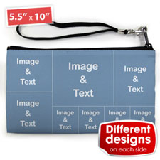 Personalised Instagram Eight Collage (2 Side Different Image) Clutch Bag 5.5