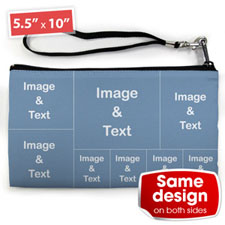 Personalised Instagram Eight Collage (2 Side Same Image) Clutch Bag 5.5
