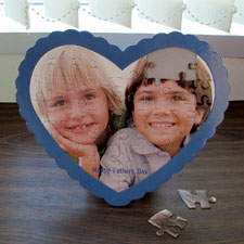 We Heart Grandpa Personalised Heart Shape Puzzle
