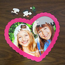 Happy Birthday Personalised Heart Shape Puzzle