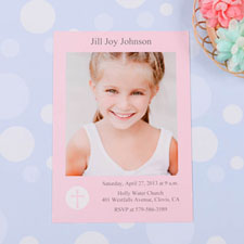 Print Your Own Shining Day – Girl Communication Photo Invitation Cards