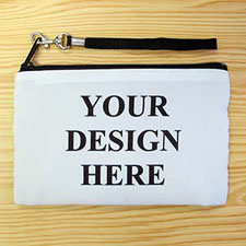 Personalised Custom Full Colour Print (2 Side Same Image) Wristlet Bag (Medium Inch)