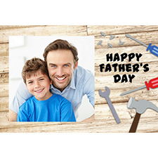 Personalised Dad Woodwork Lenticular Greeting Card
