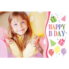 Personalised Happy B Day Girl Lenticular Greeting Card