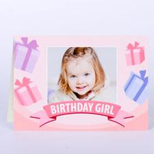 Custom Printed Birthday Girl Greeting Card