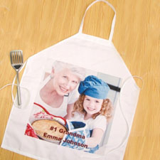 Square Photo Personalised Adult Apron
