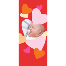 Personalised Frame Of Hearts Lenticular Bookmark