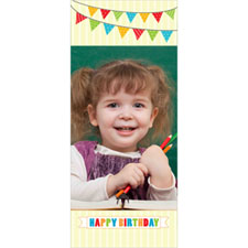Personalised Flag Bunting Birthday Lenticular Bookmark