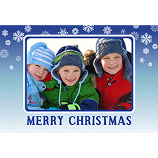 Personalised Blue Christmas Lenticular Greeting Card