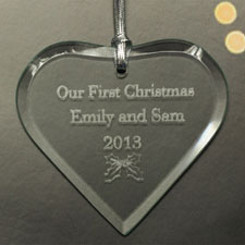 Personalised Engraved Heart Of Love Heart Shaped Ornament