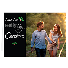 Love are Holly Joy Personalised Christmas Greeting Card