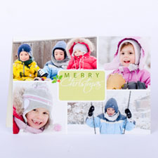 Winter Harmony Personalised Photo Christmas Card