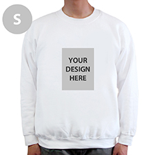 Custom Portrait Image Personalised White Sweatshirt, S