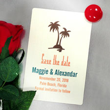 Personalised Palm Tree Save The Date Photo Magnets