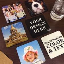 Personalised Photo Cork Coaster (Set Of 6)