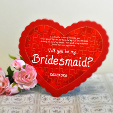 Bridesmaid Personalised Heart Shape Puzzle
