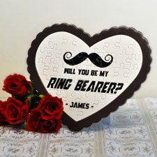 Ring Bearer Personalised Heart Shape Puzzle