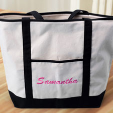 Embroidery Tote Large Black