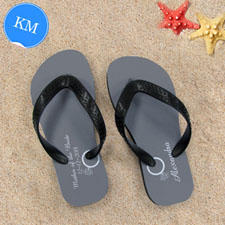 Design My Own Personalised Wedding Ring Kids Medium Flip Flops