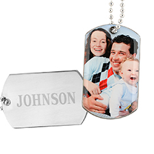 Personalised Picture Perfect Photo Dog Tag Pendant