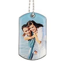 Personalised Single Sided Photo Gallery Dog Tag Pendant