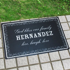 Create Your Own Personalised Family Is Forever Door Mat