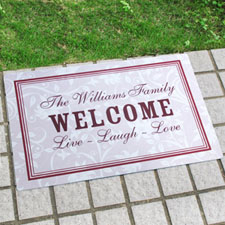Create Your Own Personalised Elegant Monogrammed Door Mat