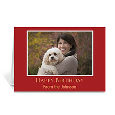 Custom Classic Red Photo Birthday Cards, 5