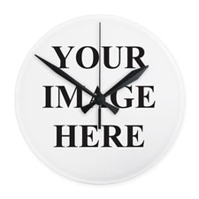 Frameless Custom Design Wall Clock Custom Printed