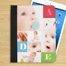 Personalised Colour Text Box & Seven Collage Folio Case
