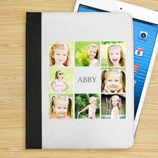 Personalised White Eight Collage Folio Case