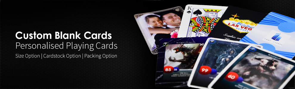 Custom Game Card and Personalised Playing Cards