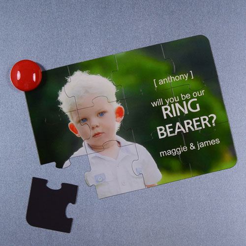 Personalised Magnetic Will You Be My Ring Bearer Invitation Puzzle
