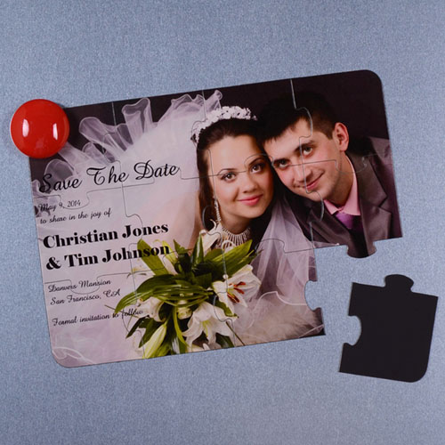 Personalised Magnetic Save The Date Invitation Puzzle