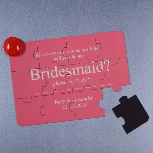 Personalised Magnetic Will You Be My Bridesmaid Invitation Puzzle