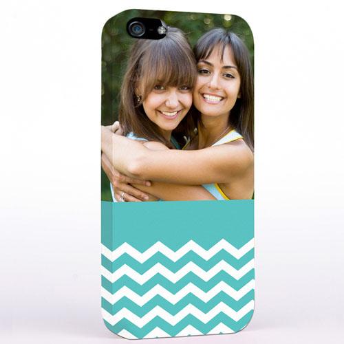 Aqua Chevron Photo iPhone 5