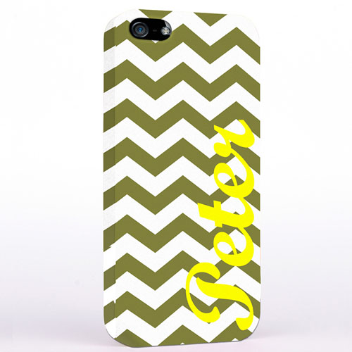 Personalised Grey Chevron iPhone Case