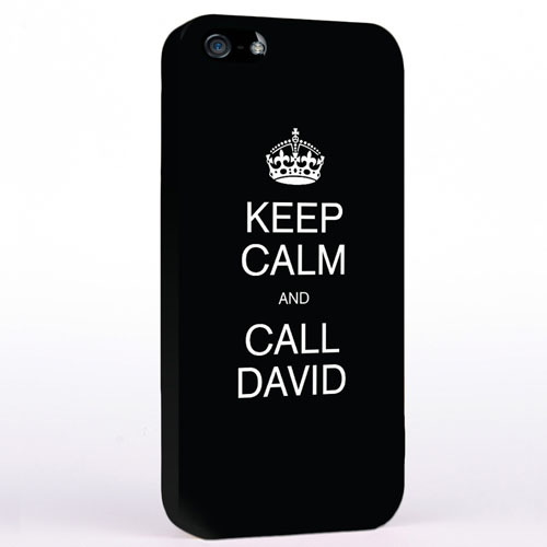 Personalised Black Keep Calm iPhone Case